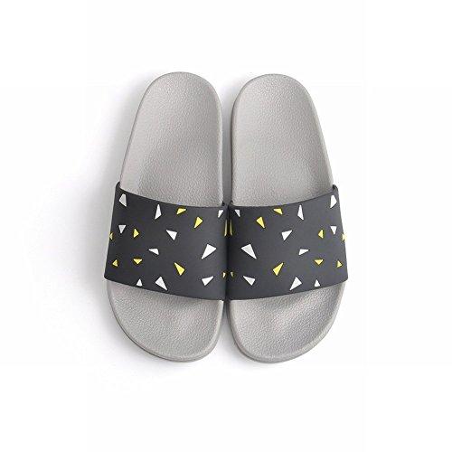 Sandalias de Verano de de Simple Slip Hombre de Casa Pareja DIDIDD 37 Baño Zapatillas Slippers Moda UN de 1Cdxq1w