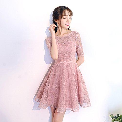 rose XL JKJHAH Robes De Soirée Dentelle Robes De Demoiselle d'honneur Rose