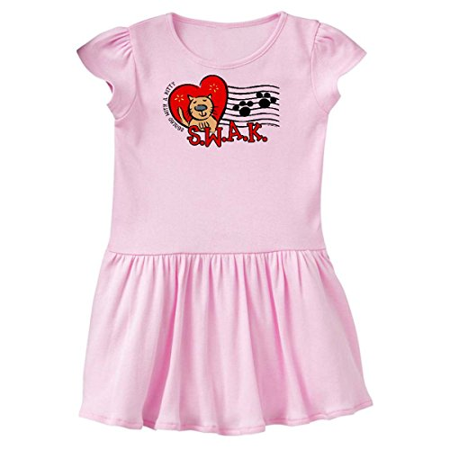 inktastic Sealed with A Kitty Toddler Dress 3T Ballerina Pink 171c0