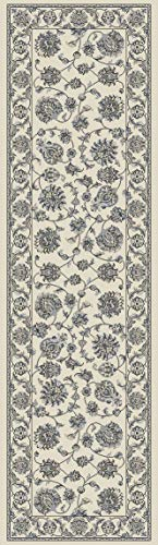 Rug Depot 179320 Royal Garden Collection - 2'2 x 7'7 Hall Runner - Ivory Background - Traditional Agra Design - 1 Million Points - Polypropylene - Rug Runners with Matching Area Rugs