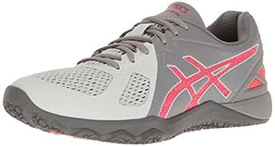 ASICS Women's Conviction X Cross-Trainer Shoe, Aluminum/Diva Pink/Glacier Grey, 5 M US