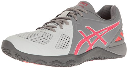 ASICS Women's Conviction X Cross-Trainer Shoe, Aluminum/Diva Pink/Glacier Grey, 6 M US