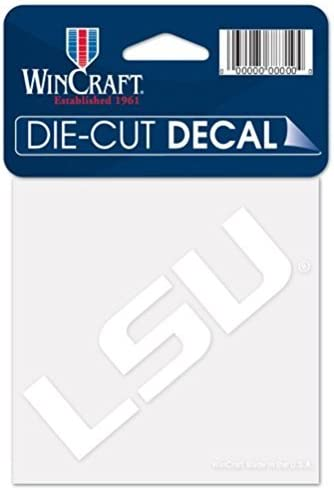 WinCraft LSU Tigers Official NCAA 4 inch x 4 inch Die Cut Car Decal by 521958