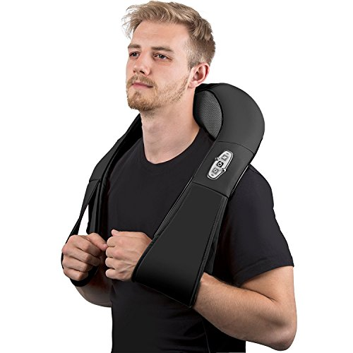 Neck Shoulder And Back Massager with Heat – Kneading Shiatsu Massage Home & Car Adapter (Where To Buy Red Contacts)
