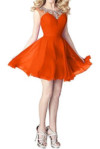 Chiffon mia Orange Kleider mit Braut Jugendweihe Abendkleider Linie Standsamt Cocktailkleider Pailletten Partykleider La A Kleider S1pFqxqnw