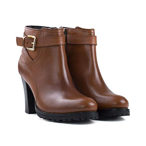 Ladies Redfoot Tan Boot Heeled Buckle AwdTnqZw