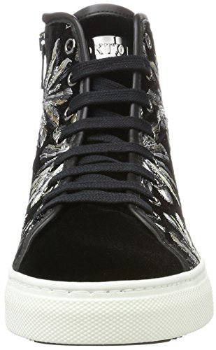Black Sneaker Hi Top Nero Silver Trainers Women's Stokton xTqSZ1x