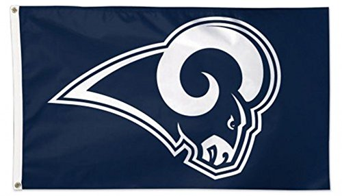 Rams Flag - Rico Industries, Inc. Los Angeles Rams NEW COLORS FGB3004 Deluxe 3x5 Flag w/Grommets Outdoor House Banner Football