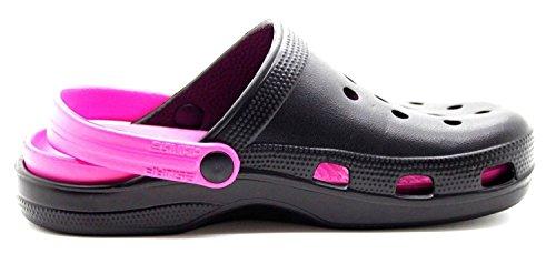 Pink Donna Sabot Sabot Black Donna Black Carcassi Carcassi H0IqE