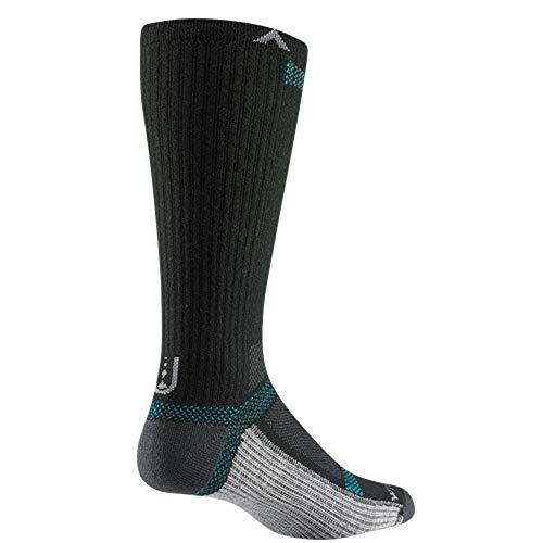 Wigwam F6280 Women's Ultra Cool Lite Crew Socks, Black II - LG