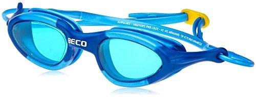 BECO 9931 Unibody Lunettes de natation Rouge, bleu clair/bleu foncé, jaune/bleu bleu