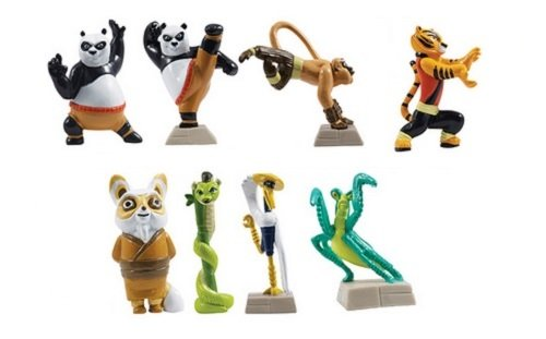 Kung Fu Panda Figures Set of 8 (Cake toppers or Party Favors)