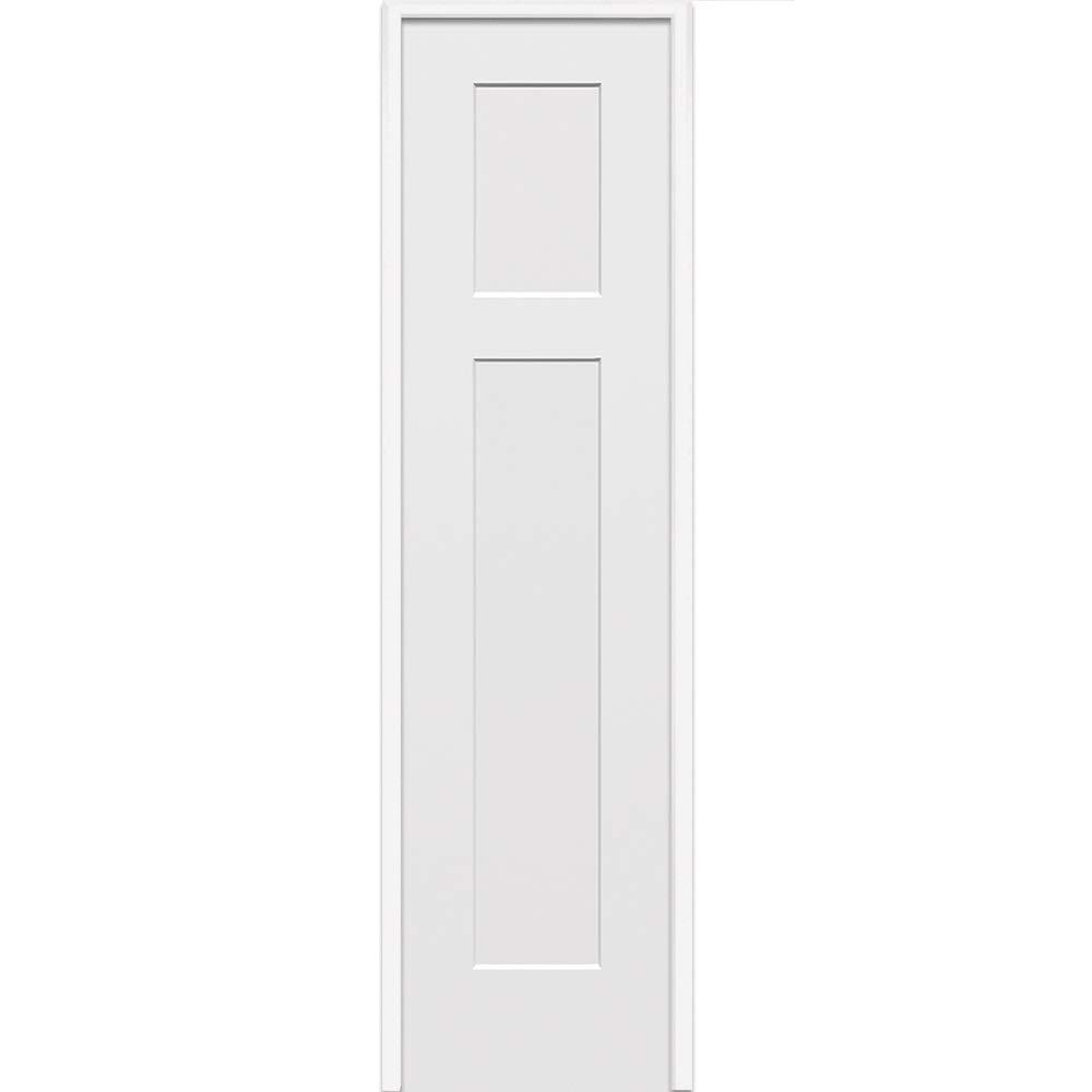 National Door Company ZZ365016R Solid Core Right Hand 18 x 80 on 6-9//16 Jamb Molded Prehung Interior Single Door Craftsman 2-Panel MDF