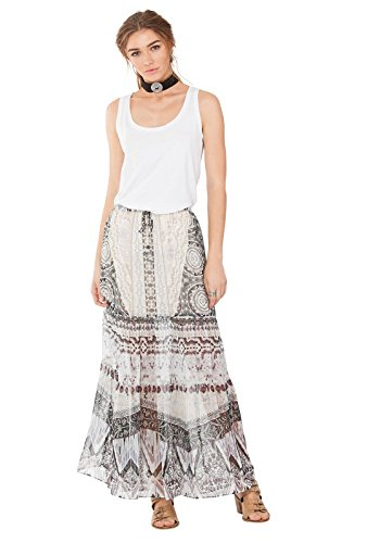 Brittany Silk Maxi Skirt