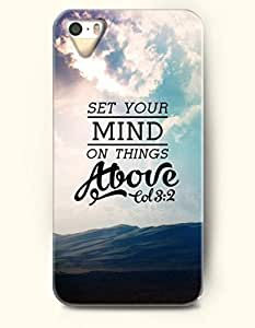 iPhone 4 / 4s Case Set Your Mind On Things Move Tol 3:2 - Bible Verses - Hard Back Plastic Case - OOFIT Authentic