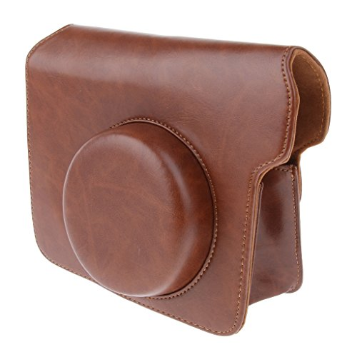 Homyl Leather Bag Case Pouch with Adjustable Shoulder Sling For Fuji Fujifilm Instax Wide 300 Film Camera, Brown