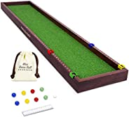 GoSports Mini Bocce Tabletop Game Set for Kids & Adults | Includes 8 Mini Bocce Balls, Pallino and