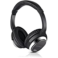 Active Noise Cancelling Bluetooth Headphones, ANCDEEP Wireless Earphones Over-ear Stereo Headsets with Built-in Microphone and Volume Control (Shinning Silver)