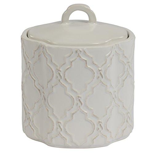 Adams Modern Rug (Jennifer Adams Chainlink Jar, Ceramic)