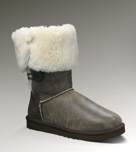 UGG Damen Lederstiefel Stiefel Boots triplet bomber Braun