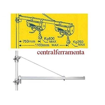 Braccio A Bandiera Per Paranco Montacarichi 600 Kg Amazon It Fai Da Te