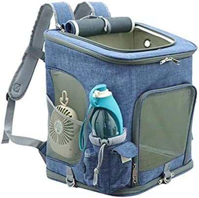 Yugoujiu Extra großer Haustier Rucksack 10 kg Hund Rucksack Sommer atmungsaktiv aus Tragetasche zusammenklappbaren Katzenrucksack