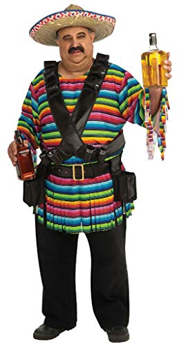 Rubie's Tequila Sunrise Costume, Rainbow Striped,