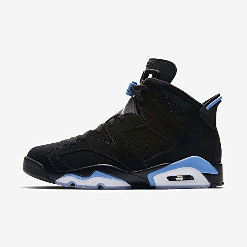 Jordan Retro 6'' UNC Black/University Blue (9.5 D(M) US) by Jordan