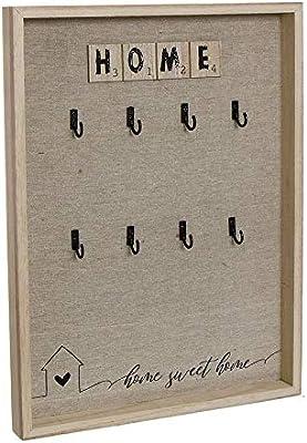 Dream Hogar Caja Llaves cuelgallaves portallaves Home Sweet Home Madera 30x40x3 cm: Amazon.es: Hogar
