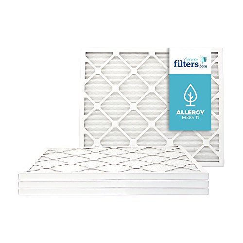 Cleaner Filters 20x24x1 Air Filter, Pleated High Efficiency Allergy Furnace Filters for Home or Office with MERV 11 Rating (4 Pack)