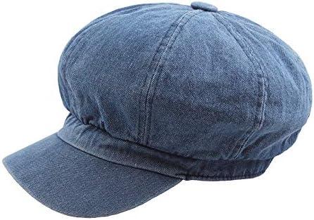帽子 2019 ベレー帽 メンズ レディース 通勤 ハンチング アウトドア UVカット おしゃれ 帽子 SGSJP (Color : 水色, Size : 56-58CM)