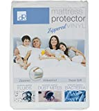 DecorRack 2 Queen Mattress Protector, Zippered Waterproof Vinyl Queen Size Soft Bed Cover, Bed Bug Bacteria Zip Mattress Protector, Heavy Duty Vinyl Mattress Topper Pad 7 inch Deep (Set of 2)