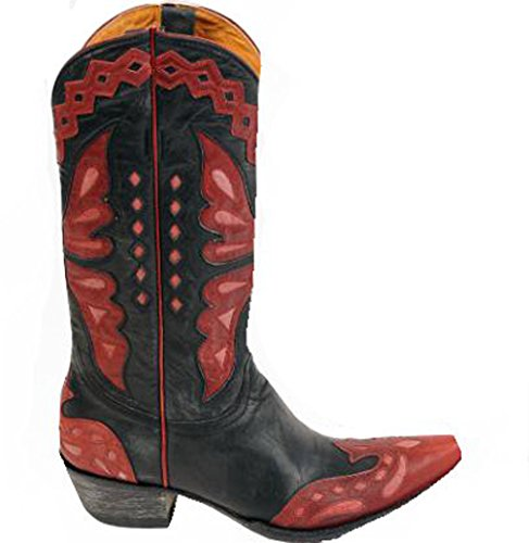 Pink Monarca Old Red Women's Gringo 44 Cowboy Vesuvio Black L Boot 026 xzTnqA