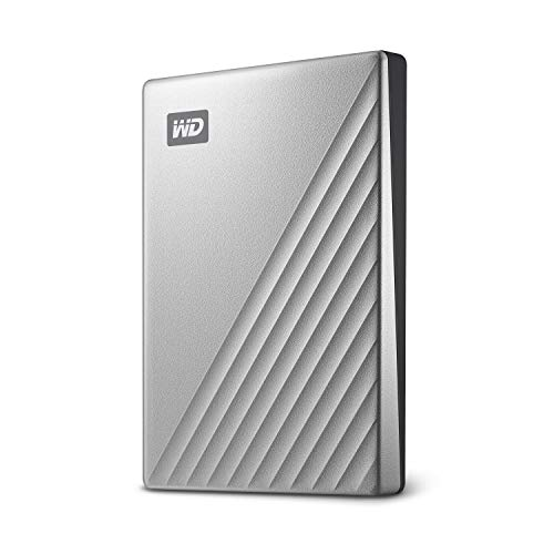 WD 2TB My Passport Ultra for Mac Silver Portable External Hard Drive, USB-C - WDBKYJ0020BSL-WESN - Western Digital External Portable Hard Drives