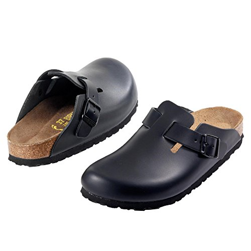 Birkenstock mens boston in Black Leather size 45 FBoEL