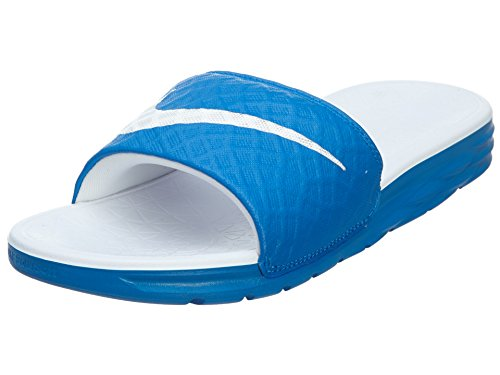 NIKE Women's Benassi Solarsoft Slide Sandal, Soar/White