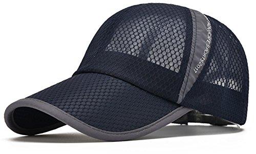 ELLEWIN Unisex Breathable Quick Dry Mesh Baseball Cap Sun ()