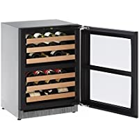U-Line U2224ZWCINT00A Built-in Wine Storage, 24, Stainless Steel (Certified Refurbished)
