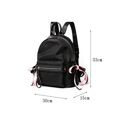Oxford Bolsa Informal Estudiante Portátil Backpack Paño Ordenador Doble Gran Impermeable Viaje Femenino Mochila Cremallera De Capacidad Bolso SvaAX