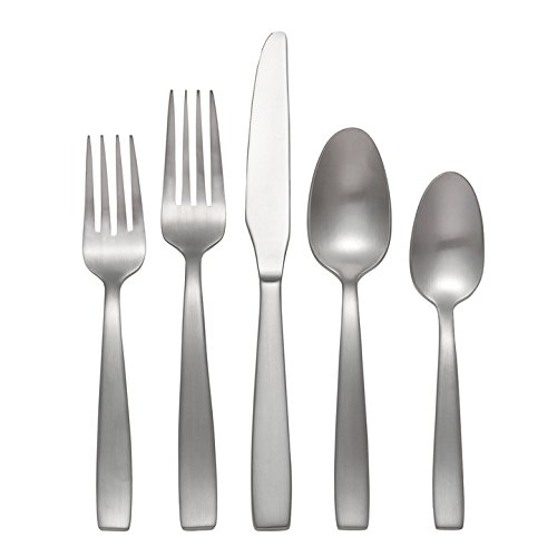 Oneida Everdine 45 Piece Casual Flatware Set, 18/0 Stainless, Service for 8