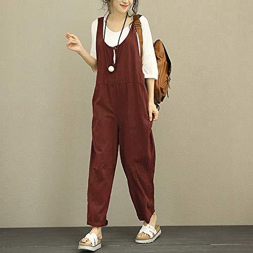 Mode Jumpsuit Vintage Bretelles Combinaisons Chic avec Femme Salopette W8FUwg1q4