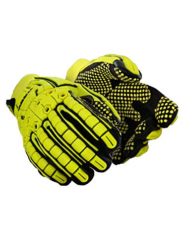 MAGID TRX648XL Primal Series | Cut Level A4 M-Force Defense TPR Impact Work Gloves, Size 10/XL, (1 Pair) -
