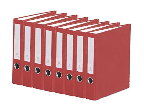3 Binder Removable Ring 2 (Bindertek 3-Ring 2-Inch Premium Linen Textured Binder 7-Pack, Red (3SLPACK-RD))