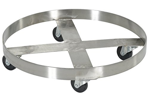 Mobile Drum Dolly-Stainless Steel44; 55 gal - Vestil DRUM-SS-55-H