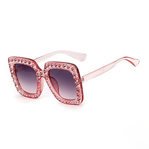 Crystal Rim Women Sunglasses Retro Brand Desginer Square Oversize Sun - Shades Brand Sunglasses