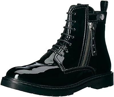 A X Armani Exchange Women's Patent Combat Boot