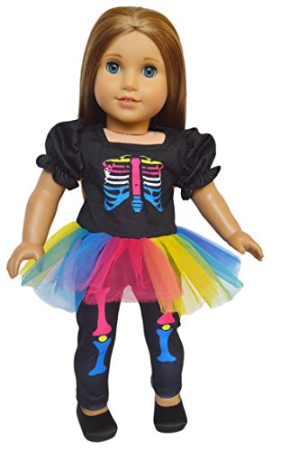 My Brittany's Skeleton Halloween Costume for American Girl Dolls- 18 Inch Doll Clothes