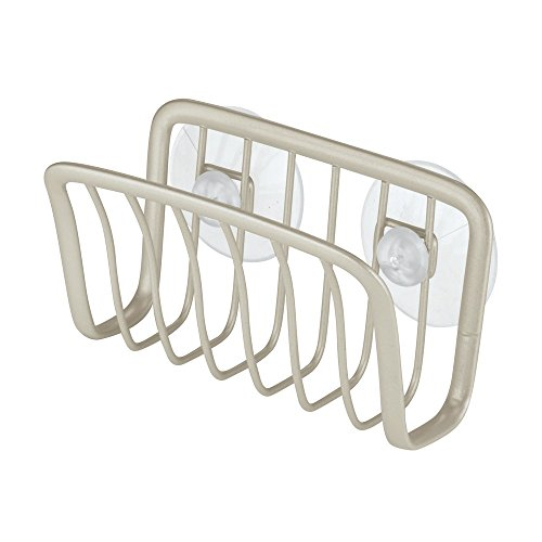 InterDesign Axis Kitchen Sink Suction Holder for Sponges, Sc