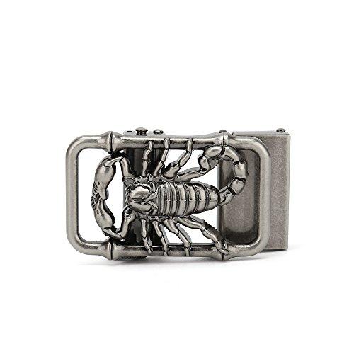 Gurscour Mens Western Scorpions Ratchet Automatical Belt Buckle Retro (Scorpion Buckle)
