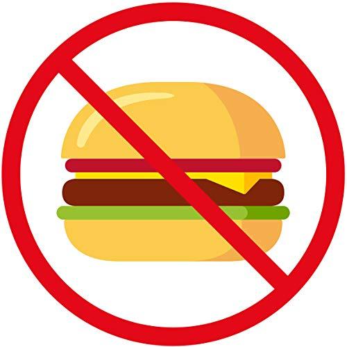 Healthy Eating No Junk Food Cartoon Icon Vinyl Sticker, Burger ()